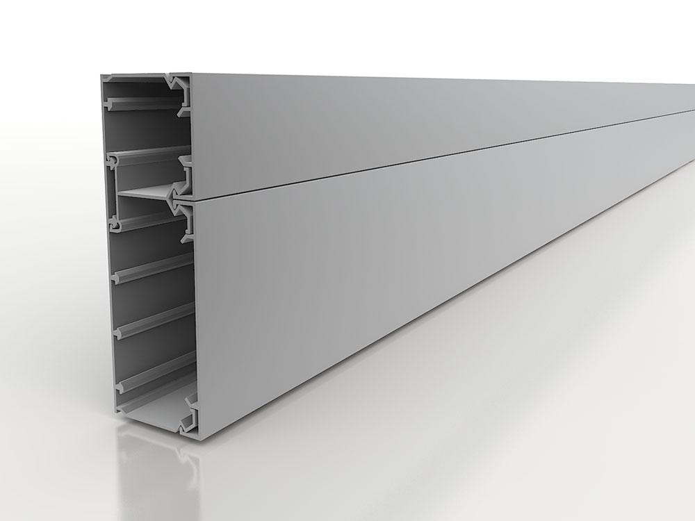 Canali per impianti portautenze con coperchio di sicurezza